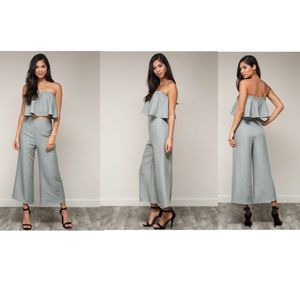 54532be731cb0 Blue Blush Pants - MayMay s Two Piece Sage Crop Top   Culottes Set